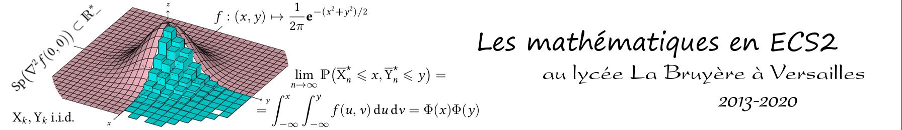 Les maths en ECS2 à La Bruyère